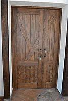 Двері полуторні міжкімнатні з натурального дерева