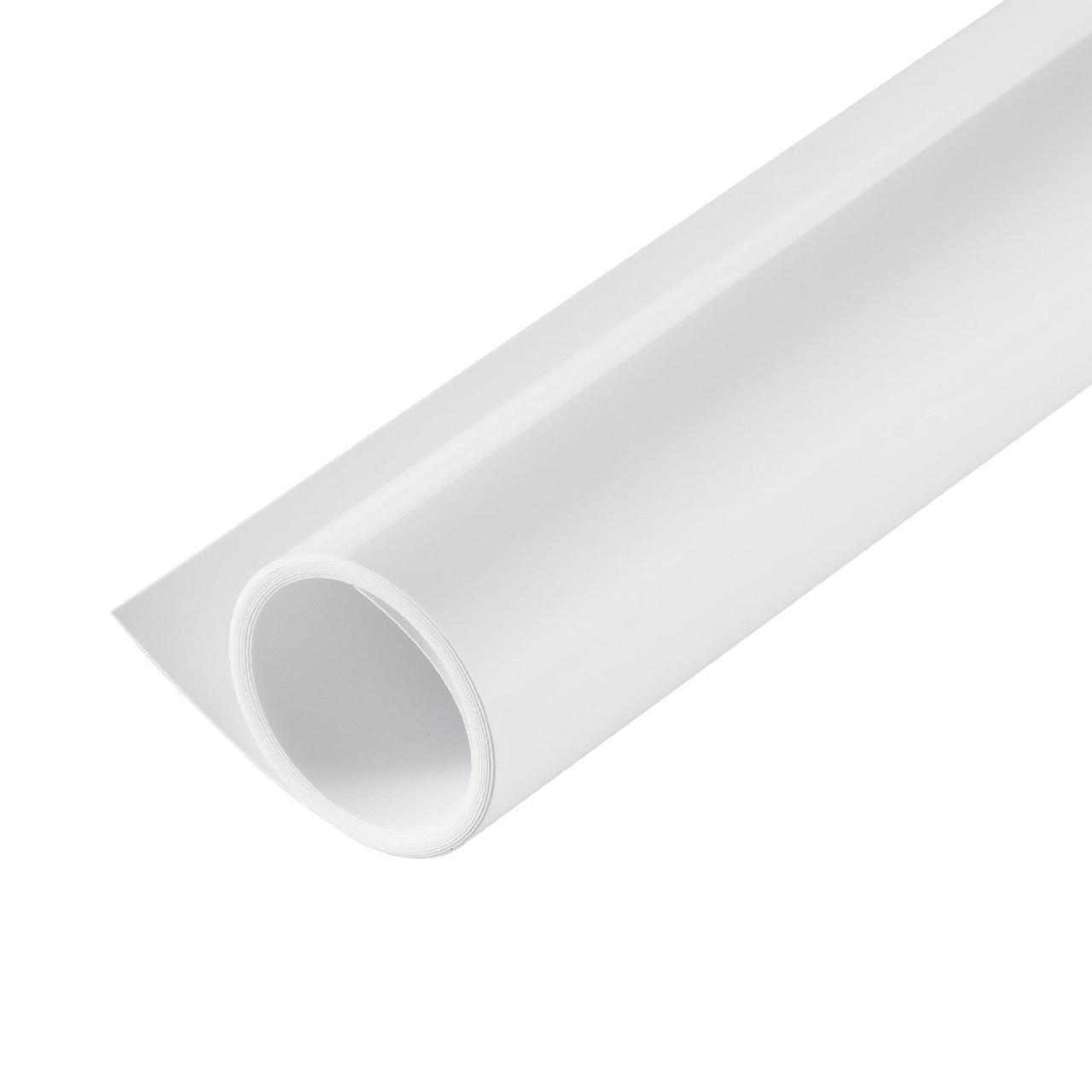 Белый двухсторонний матовый/глянцевый ПВХ (виниловый) фон Puluz для предметной фото съемки 200 х 120 см.