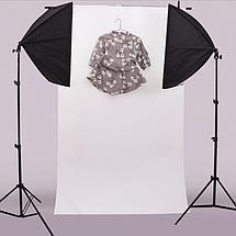 Белый двухсторонний матовый/глянцевый ПВХ (виниловый) фон Puluz для предметной фото съемки 200 х 120 см., фото 3