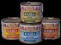 Каша (рисовая, гречневая, перловая, ячневая) с говядиной ДСТУ, ж.б.,525 гр