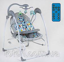 Електронні гойдалки 3в1 СХ-40460 - сірий ромбики JOY