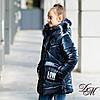 """Зимняя куртка пуховик для девочки """"Фолл"""" на флисовой подкладке, фото 2"""
