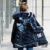 """Зимняя куртка пуховик для девочки """"Фолл"""" на флисовой подкладке, фото 5"""