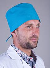 Мужская медицинская шапка в синем цвете