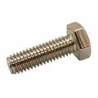Болт М10х45 латунный ГОСТ 7798-70 (ГОСТ 7805-70, DIN 931) никелированный