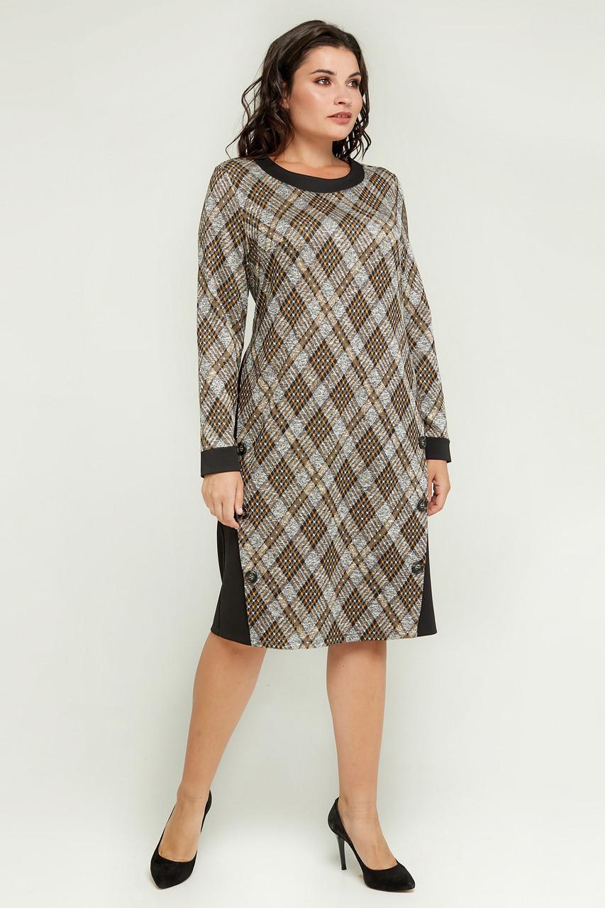 Жіноче повсякденне трикотажне плаття Клео великого розміру 52-62