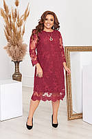 Нарядное гипюровое платье Большого размера, фото 2