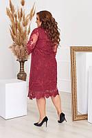 Нарядное гипюровое платье Большого размера, фото 4