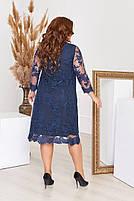 Нарядное гипюровое платье Большого размера, фото 5