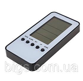Часы электронные настольные с  термометром 13*8*2 см