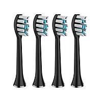 Насадки для електричної зубної щітки MEDICA+ PROBRUSH 9.0 (ULTASONIC) BLACK (4 ШТУКИ)