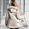 """Зимняя куртка пуховик для девочки """"Фолл"""" на флисовой подкладке, фото 3"""