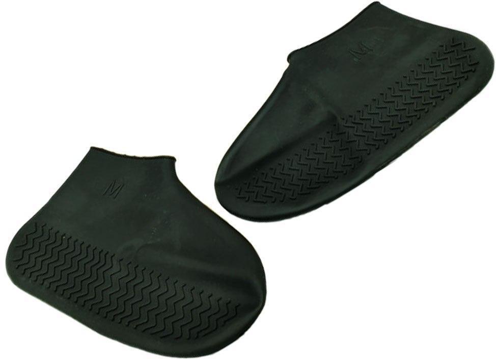 Бахилы для обуви от дождя, снега, грязи L многоразовые, силиконовые Черный (n-753)