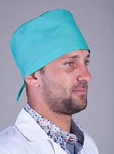 Качественная медицинская шапка для мужчин материал батист