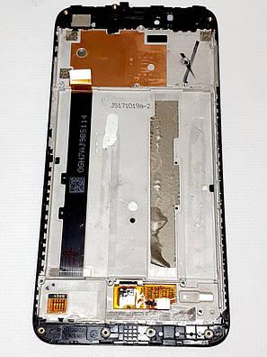 Модуль сенсор + дисплей черный Xiaomi Redmi Note 5A (MDG6) оригинал б.у., фото 2