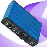 Звуковая карта 5.1 audio PCI внешняя USB многоканальная c оптическим входом и выходом S/P-DIF