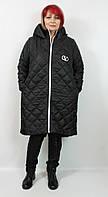 Турецкая женская длинная куртка батальных размеров 50-56