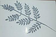 Лист серебро рябина 40х20
