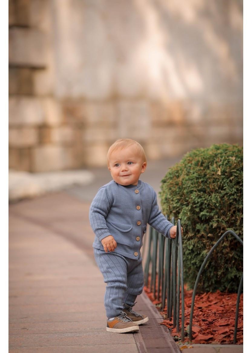 Хлопковый вязаный костюм Поппи для мальчиков 3-24 мес