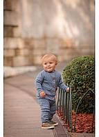 Хлопковый вязаный костюм Поппи для мальчиков 3-24 мес, фото 1
