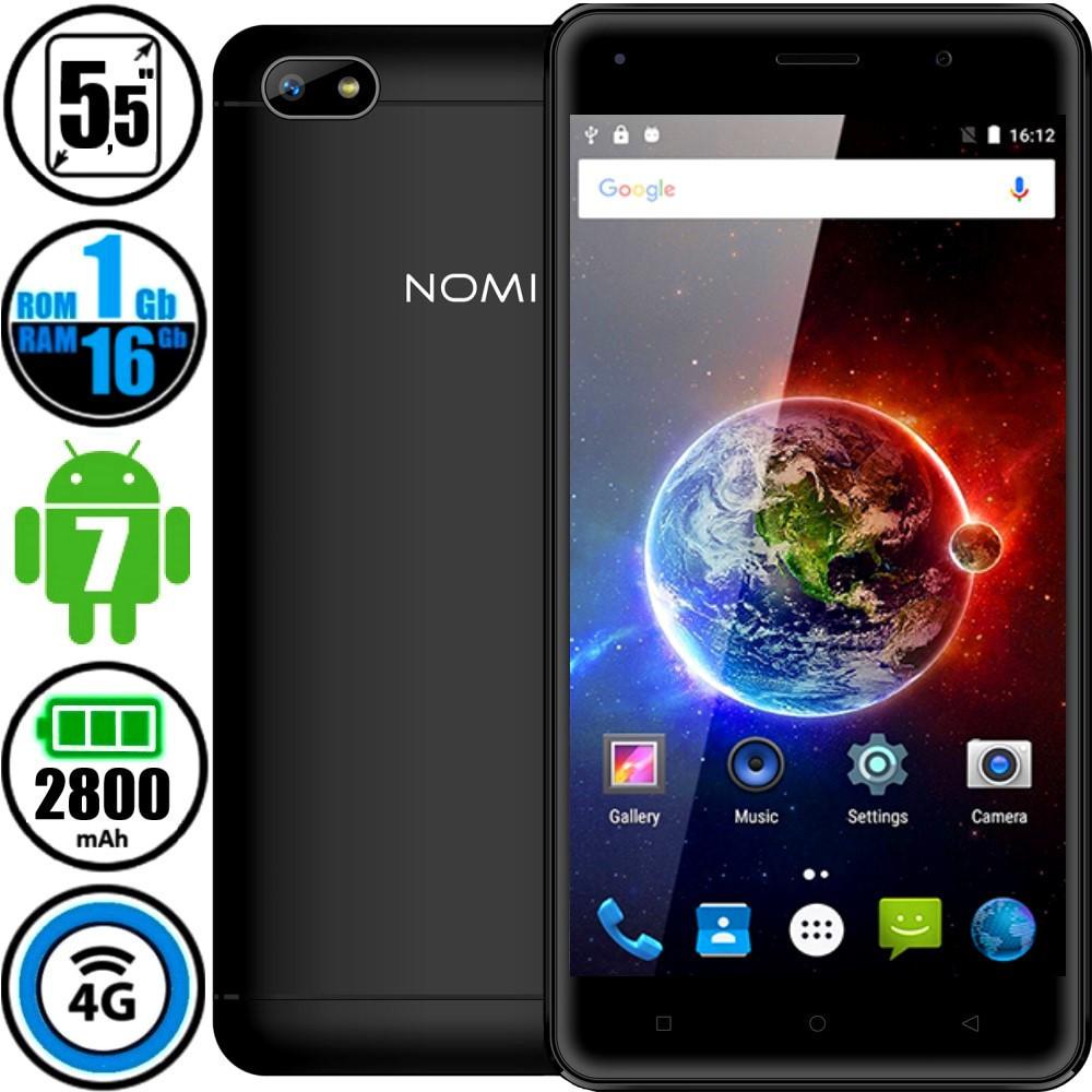 Смартфон Nomi i5511 (16Gb) Black - Корпус Метал