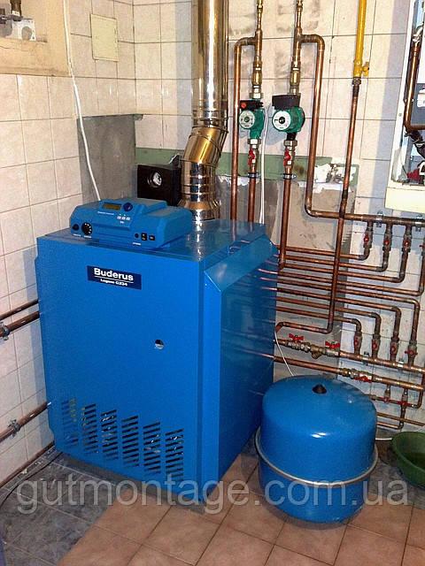 Монтаж напольного газового котла до 40кВт  Одесса.
