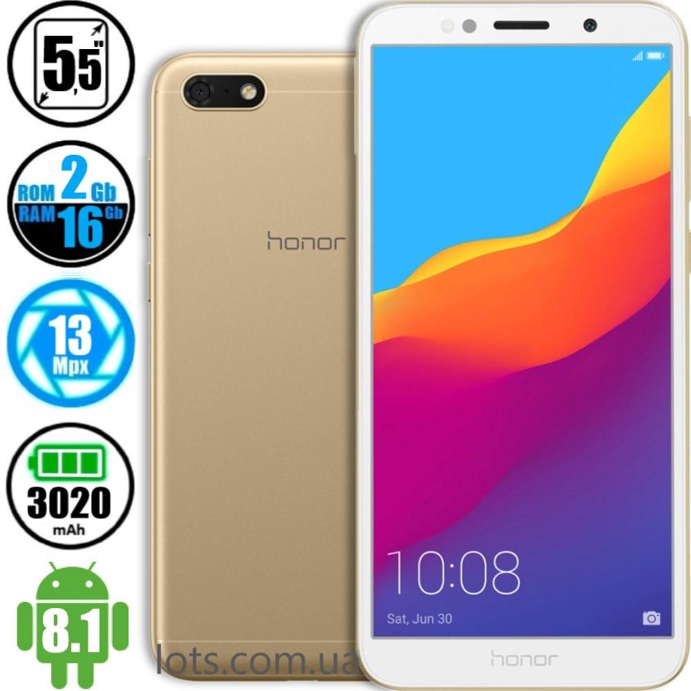 Смартфон Honor 7A (2/16Gb) Gold