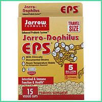Jarrow Formulas, Комплекс пробиотиков Jarro-Dophilus EPS, 5 миллиардов, 15 растительных капсул