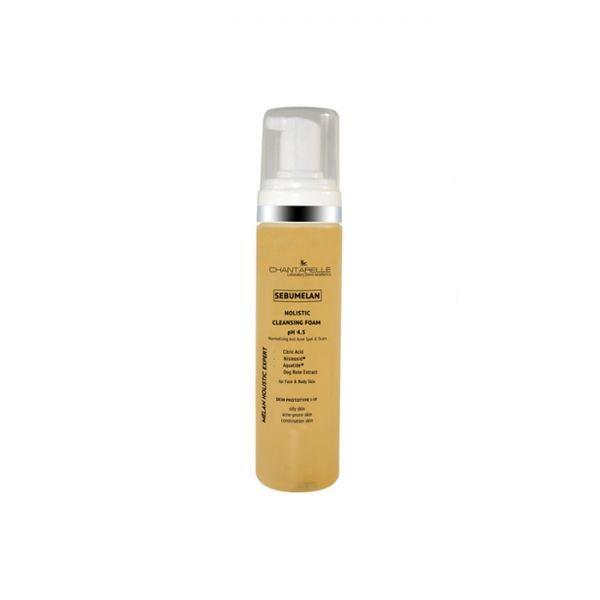Осветляющая и нормализующая очищающая пенка pH 4,5Sebumelan Holistic Cleansing Foam 200мл