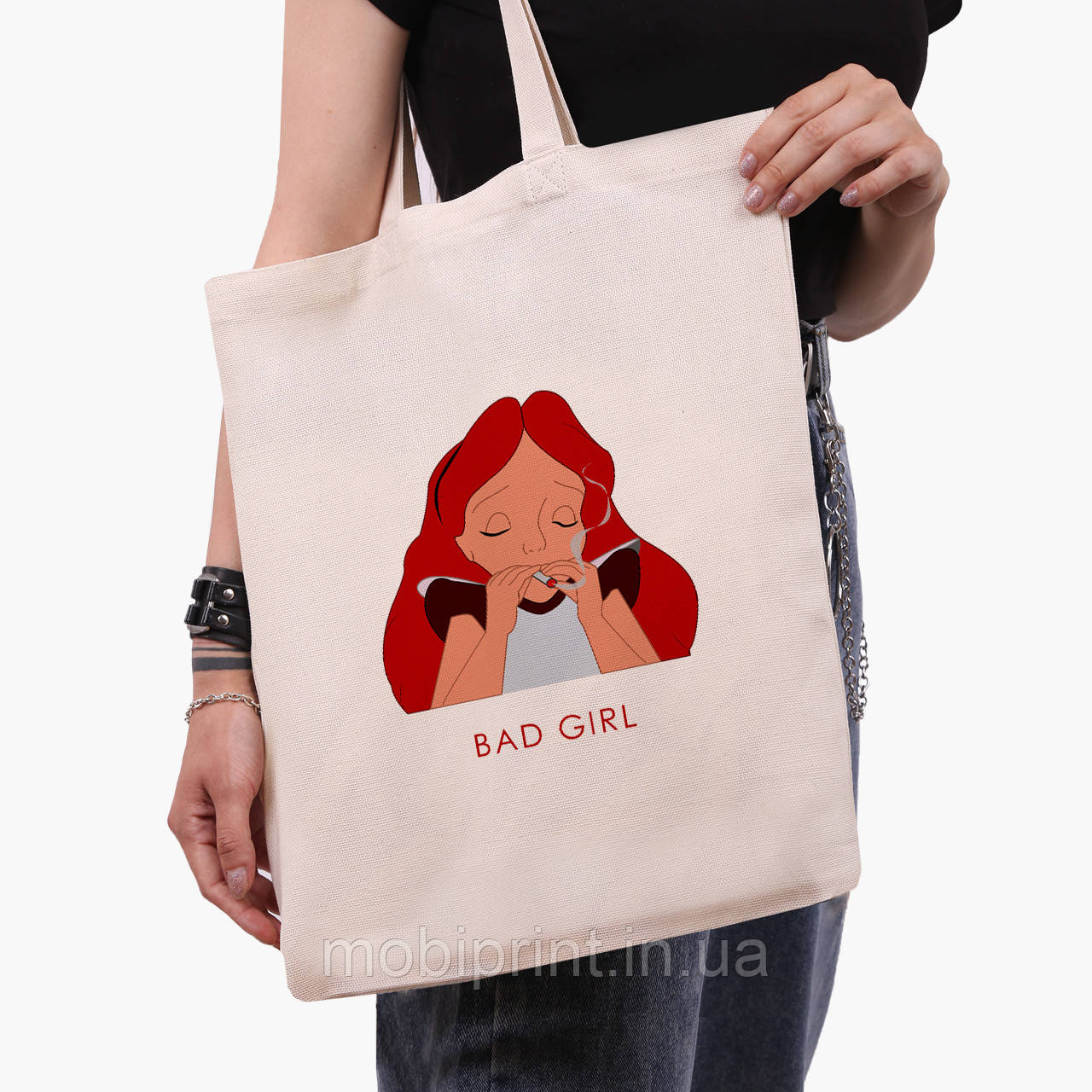 """Эко сумка шоппер Алиса плохая девочка """"Дисней"""" (Alice is a Disney) (9227-1441) экосумка шопер"""