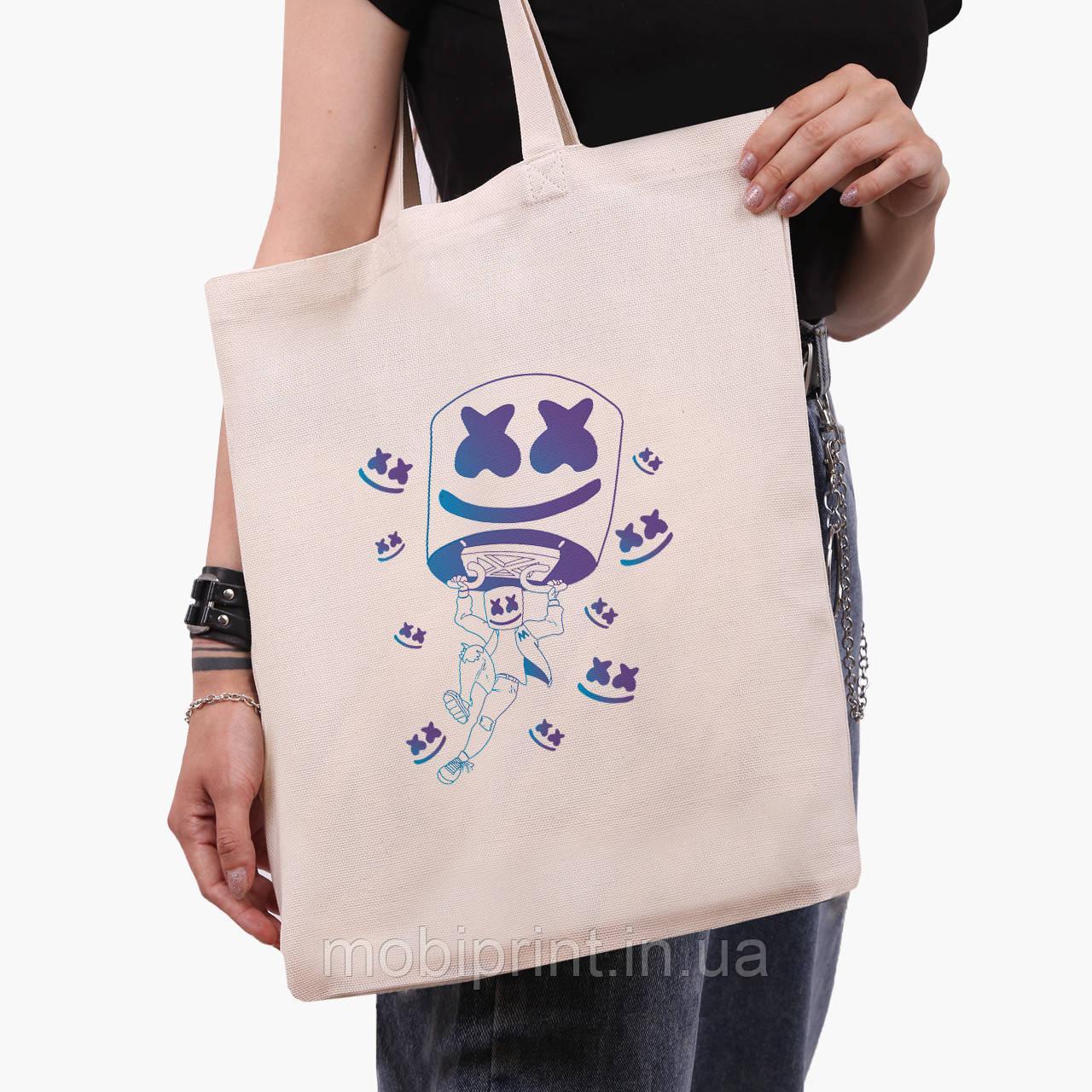 Эко сумка шоппер Маршмелло Фортнайт (Marshmello Fortnite) (9227-1329)  экосумка шопер 41*35 см