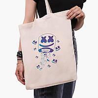 Эко сумка шоппер Маршмелло Фортнайт (Marshmello Fortnite) (9227-1329)  экосумка шопер 41*35 см , фото 1
