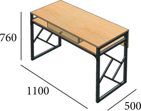Стол рабочий, письменный 1100*500 Ромбо от Металл дизайн с доставкой