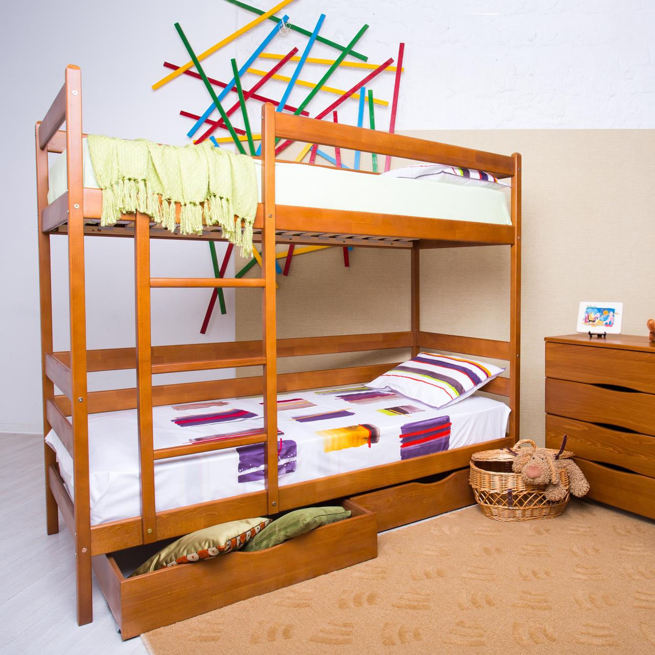 Ліжко двоярусне дерев'яне Амелі