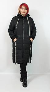 Турецкая женская длинная куртка батальных размеров 50-58