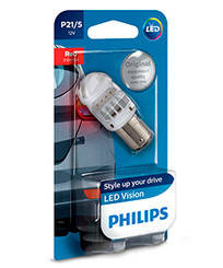 Philips P21/5W LED RED 12836