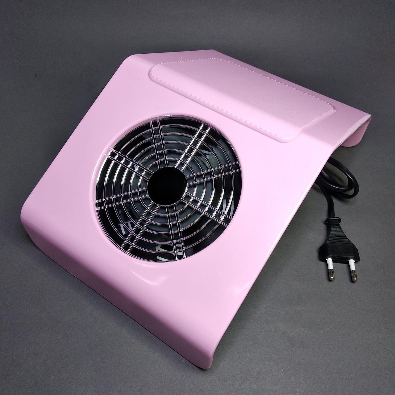 Вытяжка пылесос для маникюра настольная розовая