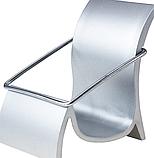 Візитниця настільна металева, підставка для візиток 55х80х65 мм, фото 4