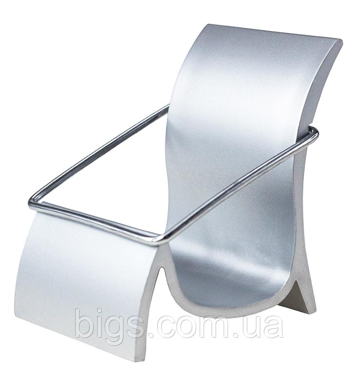 Візитниця настільна металева, підставка для візиток 55х80х65 мм