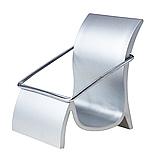 Візитниця настільна металева, підставка для візиток 55х80х65 мм, фото 5