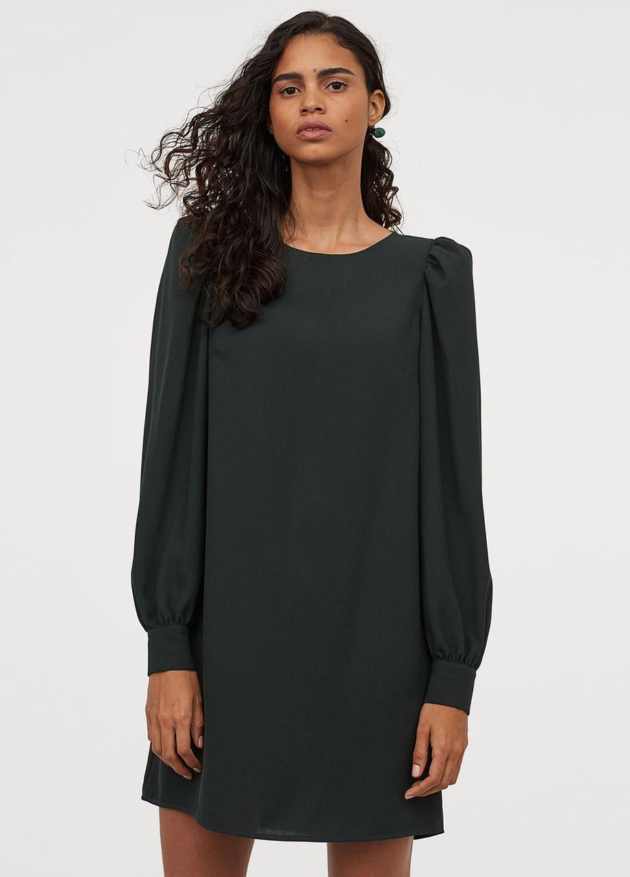 Женское платье H&M темно-зеленое, S