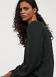 Женское платье H&M темно-зеленое, S, фото 3