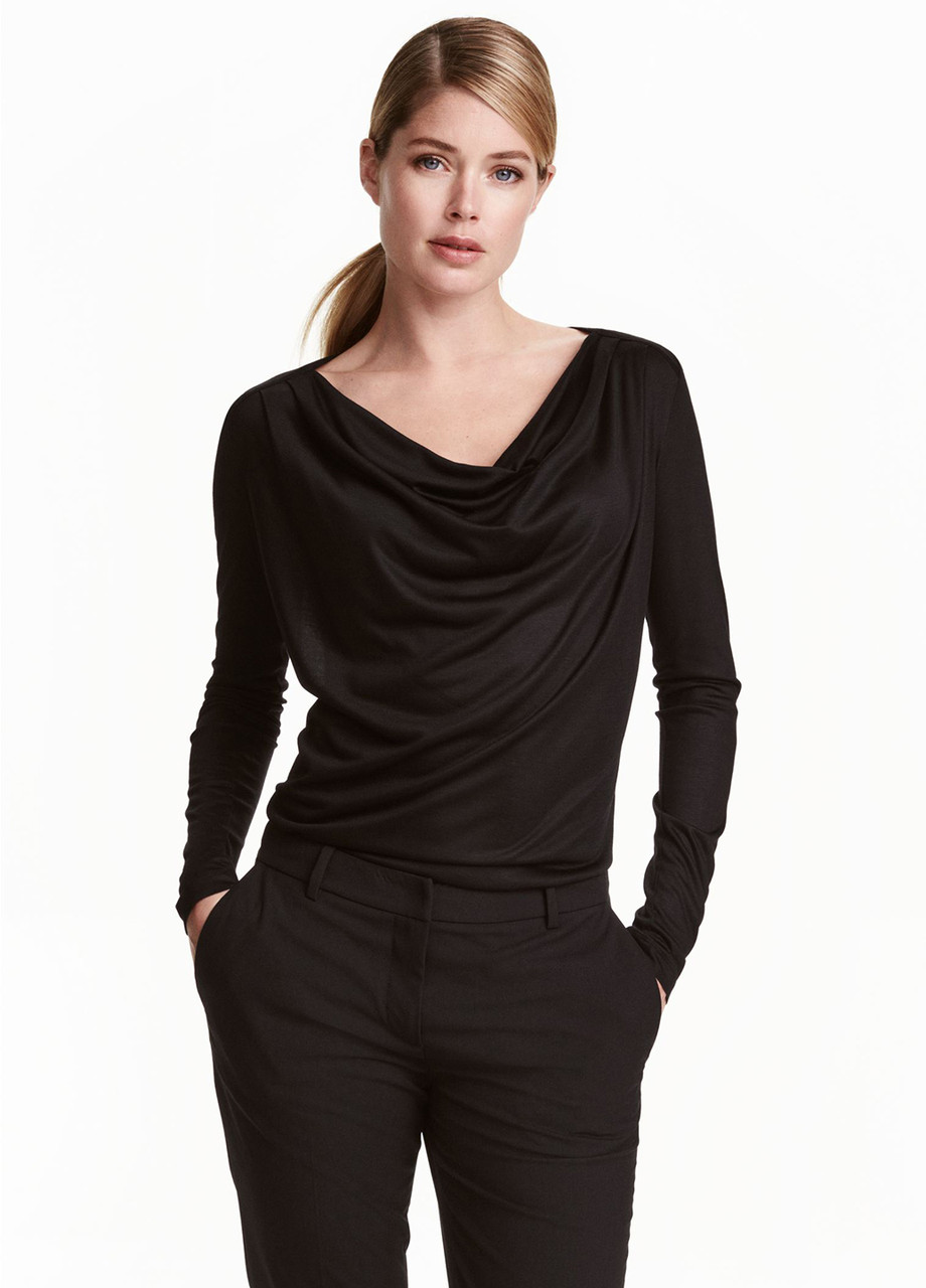 Женская блуза H&M черная,L