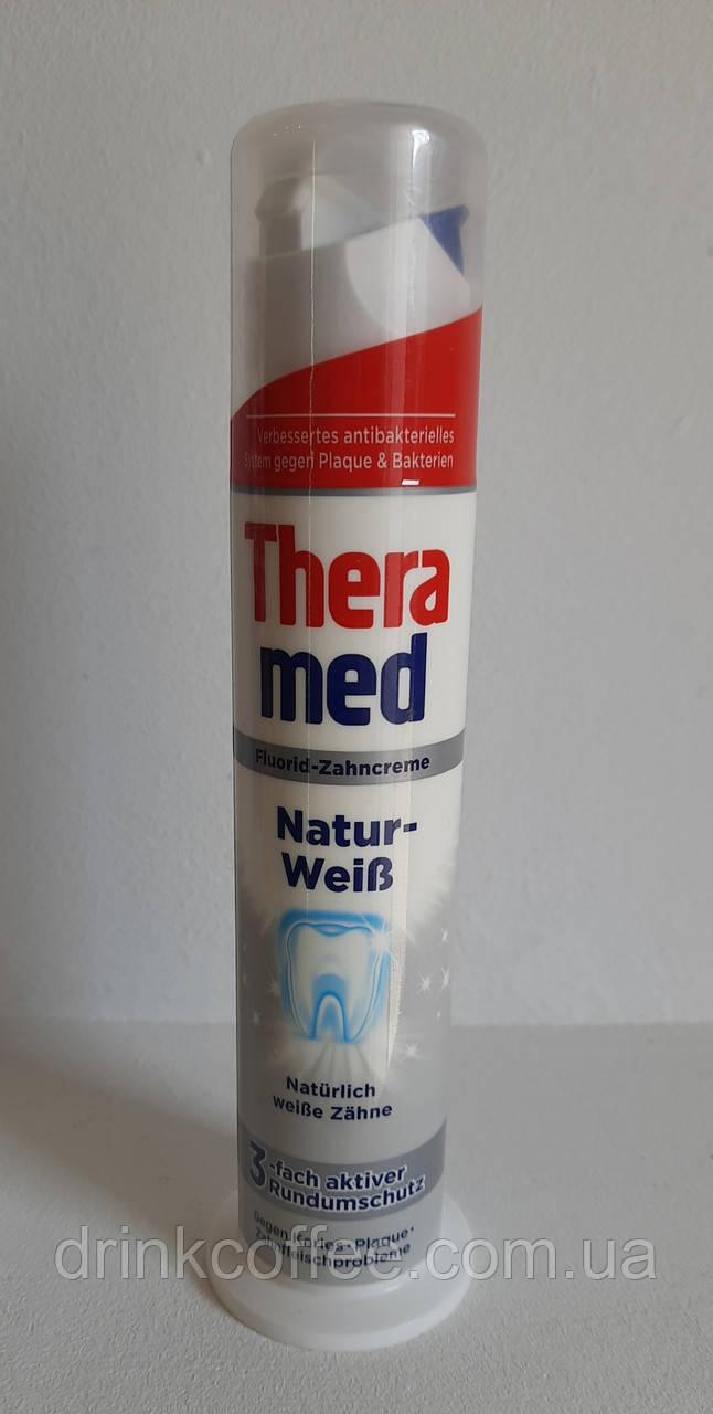 Зубна паста Theramed Fluorid-Zahncreme Natur-weib Німеччина 100 мл
