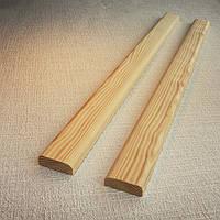 Притворная планка плинтус сосна 35х15 мм.