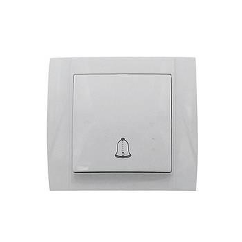 Кнопка звонка АВАТАР без подсветки внутренняя белая