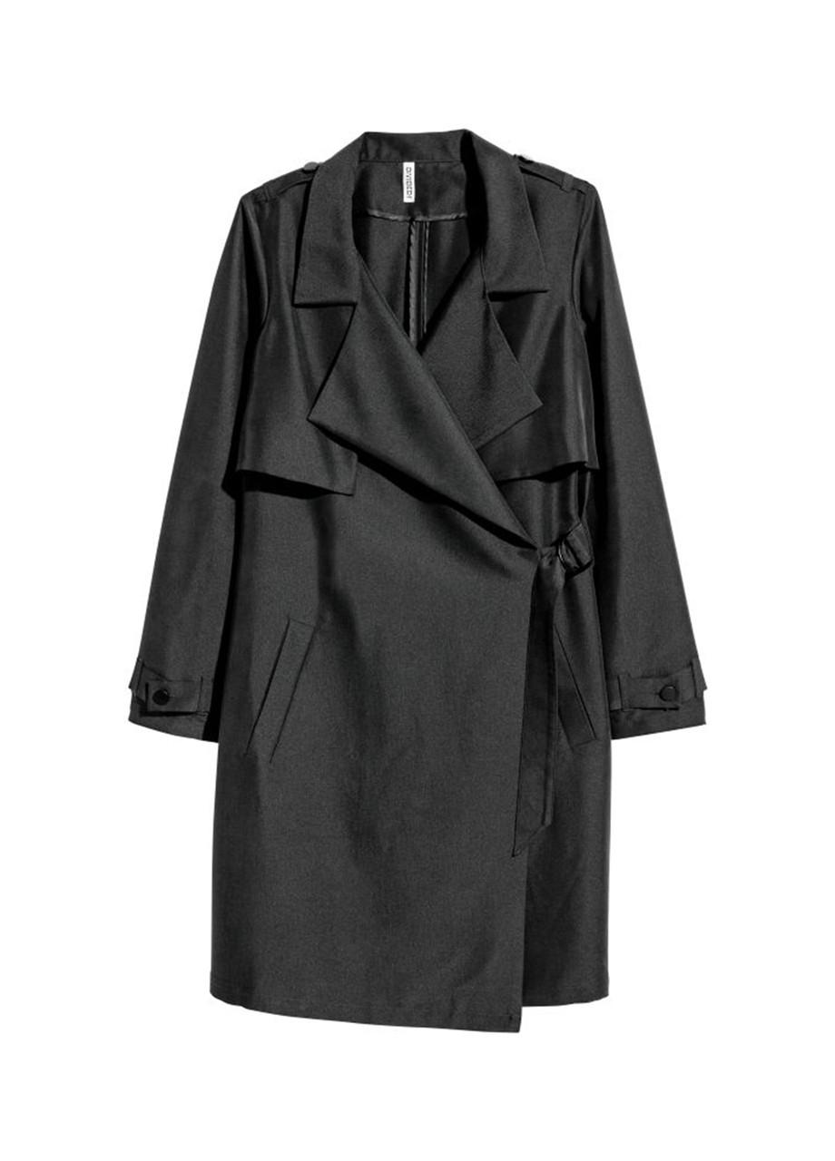 Женский плащ H&M черно-серый 38р
