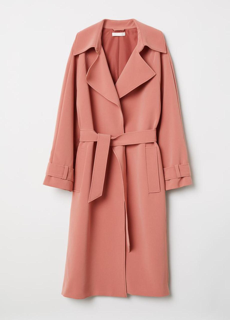 Женский плащ H&M грязно-розовый S