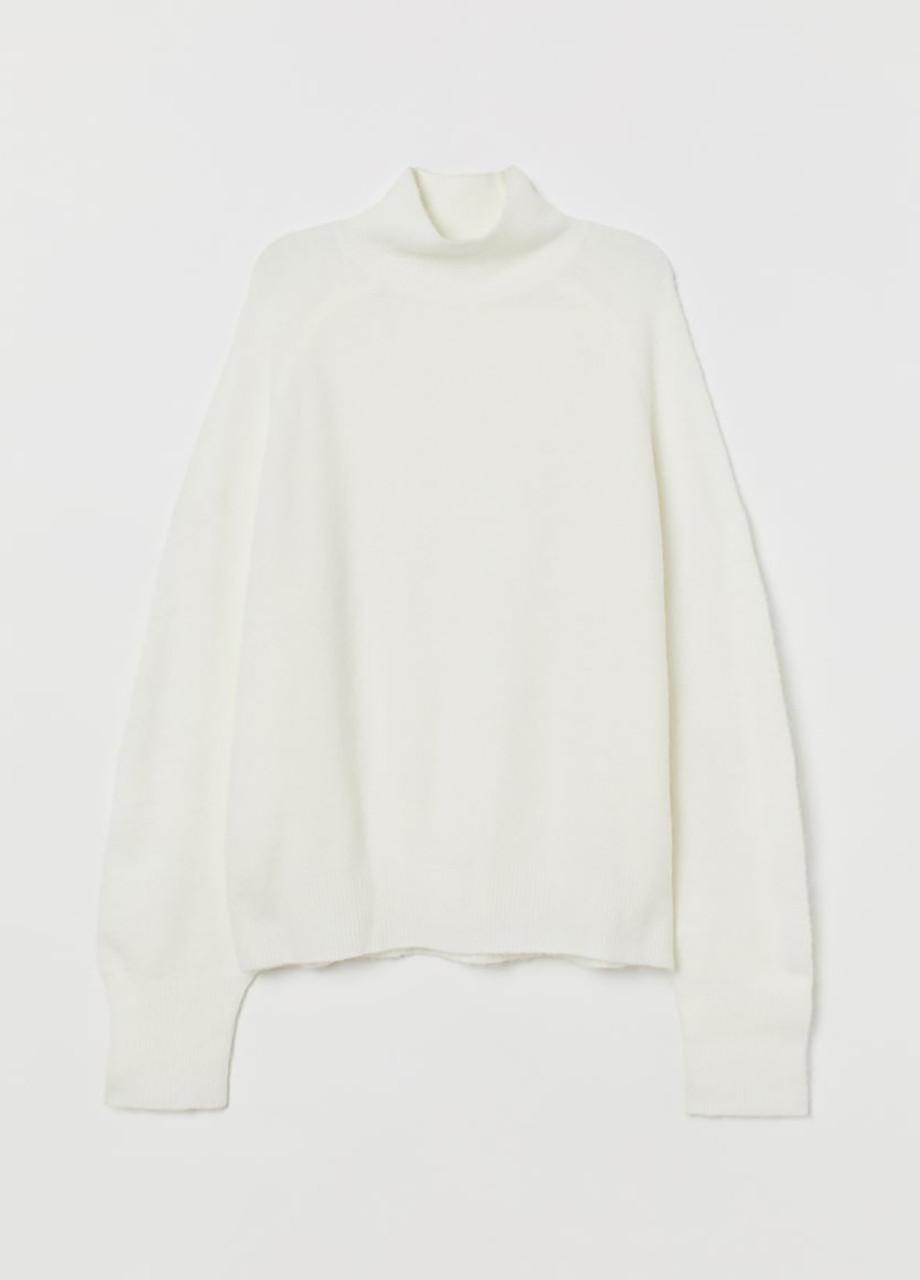 Женский свитер H&M молочный S