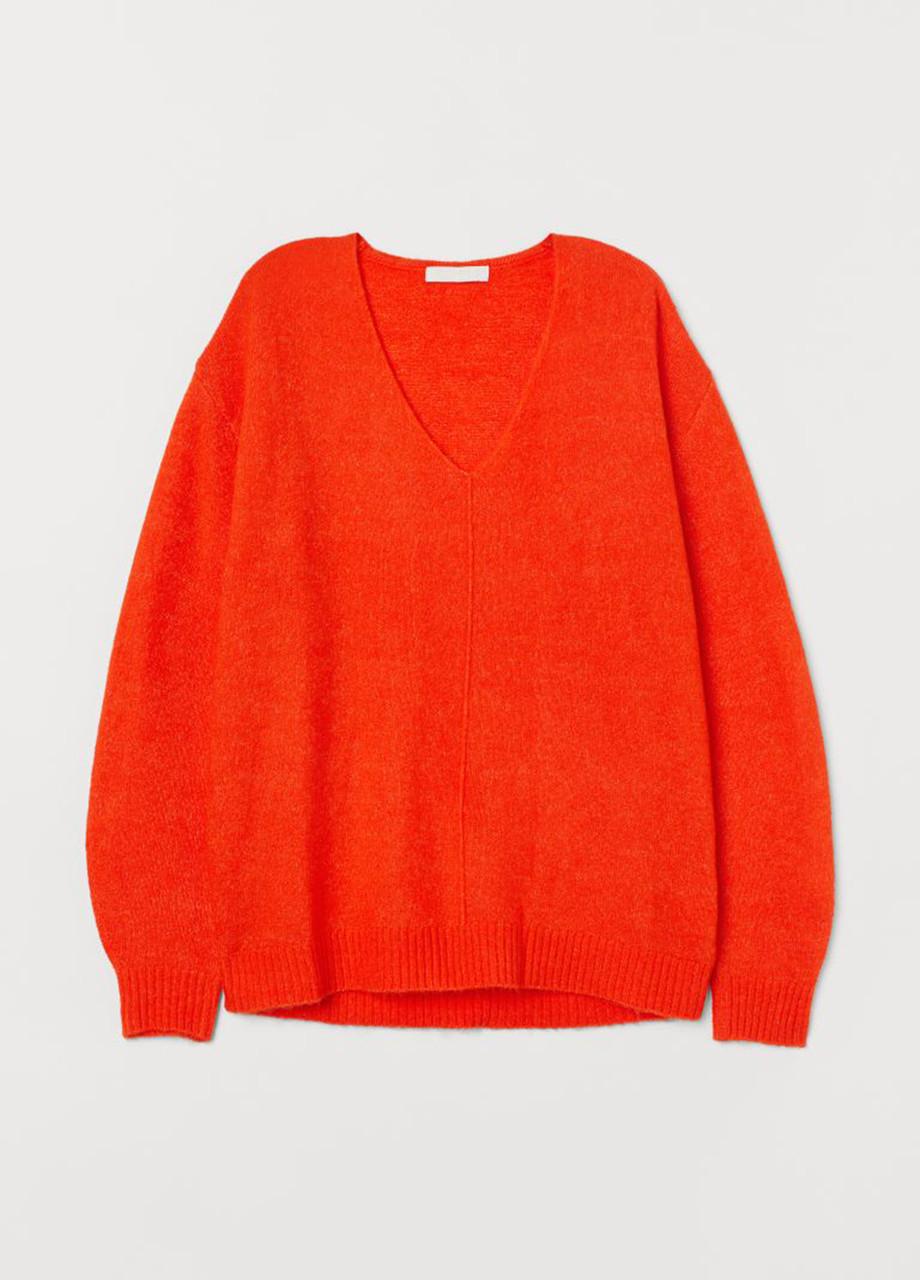 Женскмий пуловер H&M алый S
